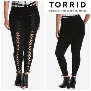TORRID | Plus Size Ponte Lace-Up Sz 1 fits 14/16
